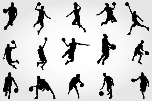 Silhuetas de basquete