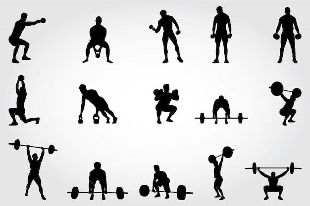 Silhuetas de fitness