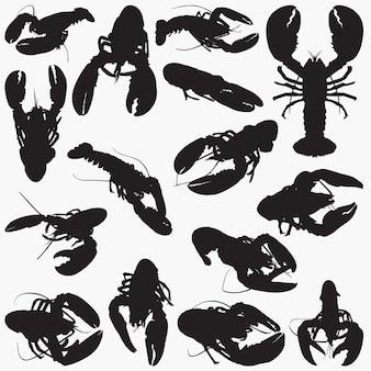 Silhuetas de lagosta