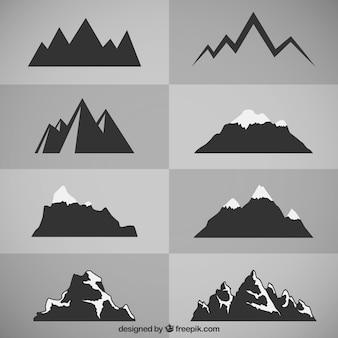 Silhuetas de montanha