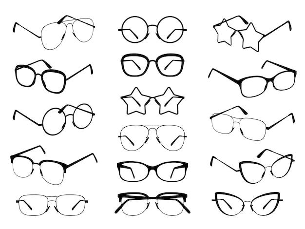 Silhuetas de óculos