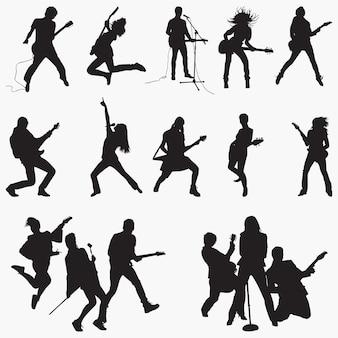 Silhuetas de rockstar