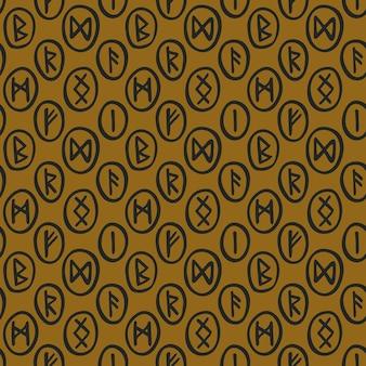 Silhuetas de runas mágicas escandinavas, rabiscos. cartomante, previsão. bruxaria de halloween