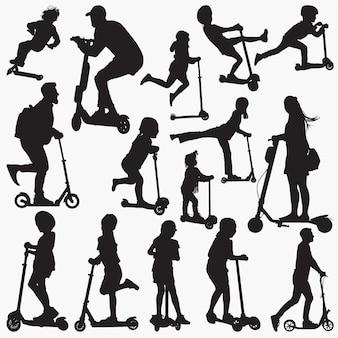 Silhuetas de scooter