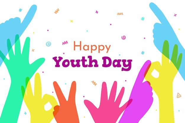 Silhuetas desenham evento do dia da juventude