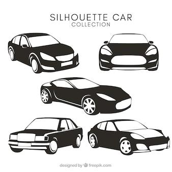 Silhuetas do carro com desenhos diferentes