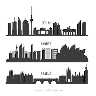 Silhuetas internacionais embalar