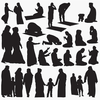 Silhuetas muçulmanas