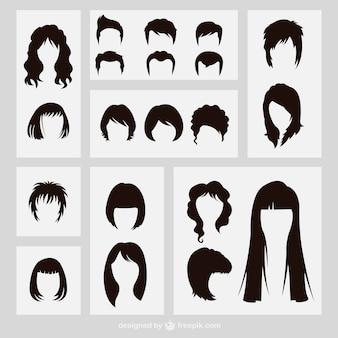 Silhuetas penteados