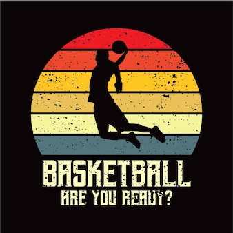 Sillhouete de basquete