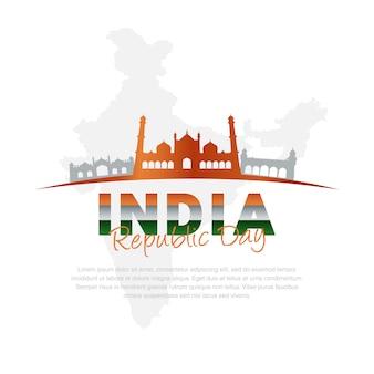 Silueta, de, mesquitas, em, india