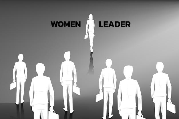 Silueta, de, mulheres negócios