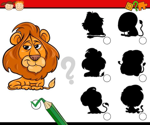 Siluetas de educação desenhos animados do jogo
