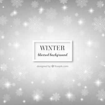 Silver background borrado olá inverno