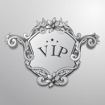 Silver vip background design