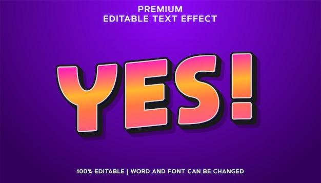 Sim - estilo de efeito de texto editável