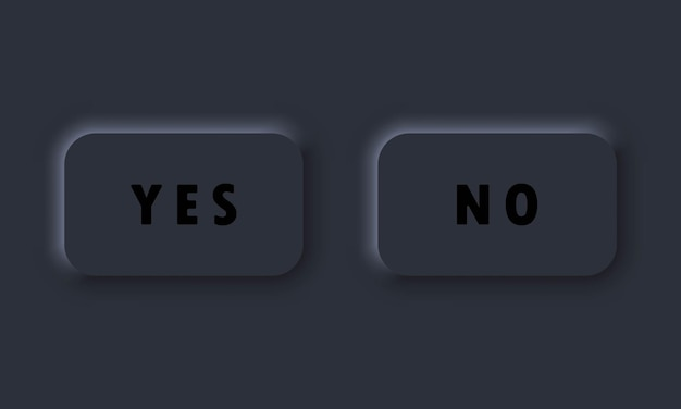 Sim, não há ícones de botão. aprovar ou negar o ícone. símbolo para site da web. neumorphic ui ux. neumorfismo