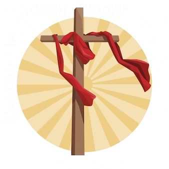 Símbolo católico cruzado
