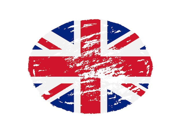 Símbolo da bandeira da grã-bretanha grunge