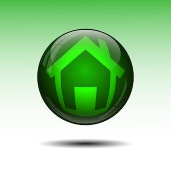 Símbolo da casa em uma ilustração de fundo branco