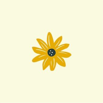 Símbolo da flor nas mídias sociais postar ilustração vetorial floral