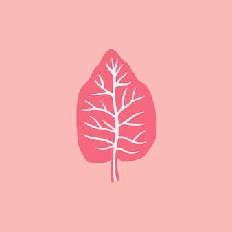 Símbolo da folha tropical nas mídias sociais postar ilustração vetorial floral