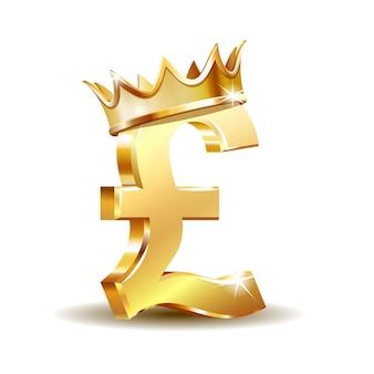 Símbolo da moeda da libra britânica