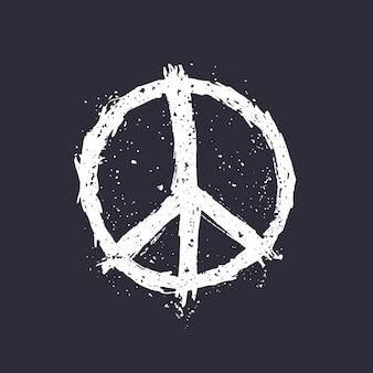 Símbolo da paz em ilustração vetorial escura