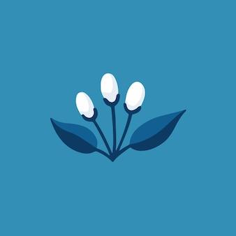 Símbolo da planta tropical nas mídias sociais postar ilustração vetorial botânica