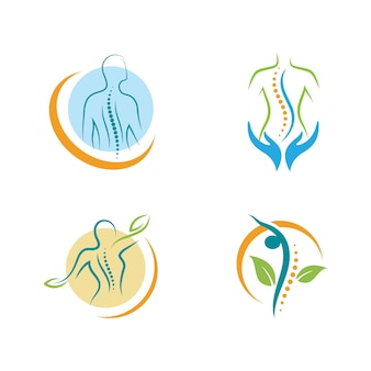 Símbolo da quiropraxia ilustração em vetor ícone design modelo