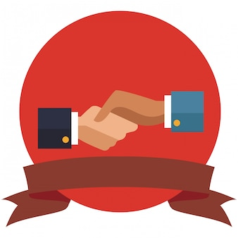 Símbolo de aperto de mão de empresários