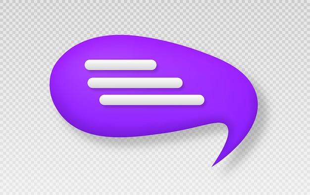 Símbolo de bate-papo pictograma de estilo 3d para web design ui mobile app infográfico