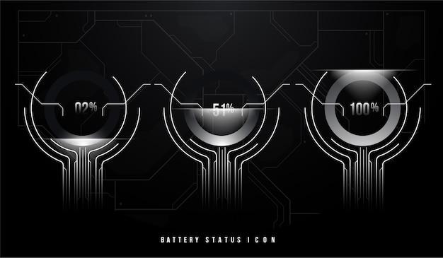 Símbolo de bateria define nível diferente de carga para interface do usuário