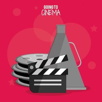 Símbolo de bobina de filme de cinema