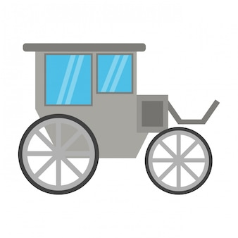 Símbolo de carruagem vintage