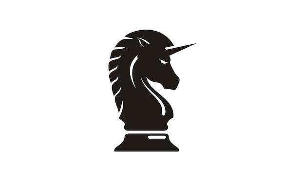 Símbolo de cavalo / estratégia para inspiração de design de logotipo