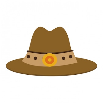 Símbolo de chapéu de cowboy