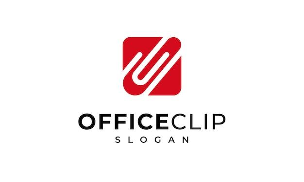 Símbolo de clipe de papel de logotipo de clipe de escritório