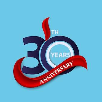 Símbolo de comemoração de sinal e logotipo de aniversário