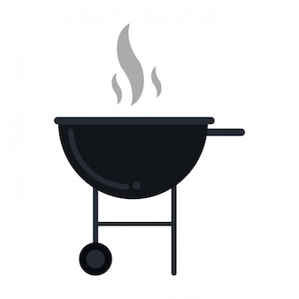 Símbolo de comida para churrasco