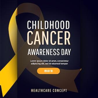 Símbolo de conscientização de câncer de infância