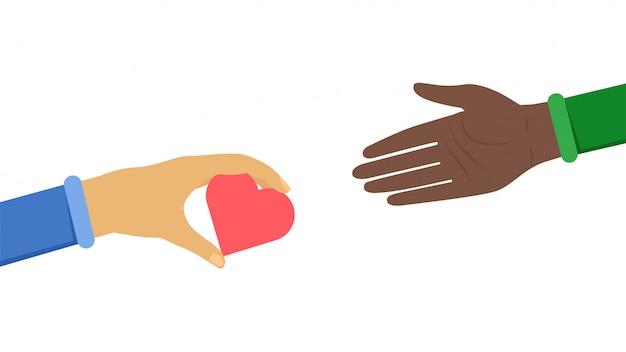 Símbolo de cooperação internacional plano