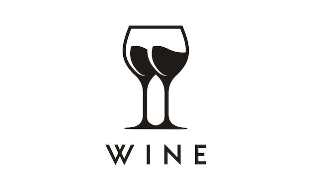 Símbolo de copo de vinho / design de logotipo