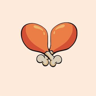 Símbolo de coxinhas de frango ilustração vetorial de comida deliciosa