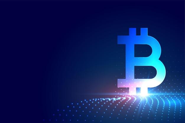 Símbolo de criptomoeda bitcoin no fundo da tecnologia