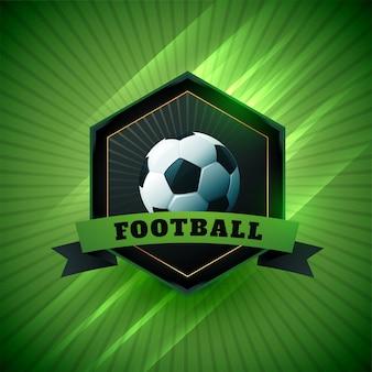 Símbolo de design de rótulo de jogo de futebol