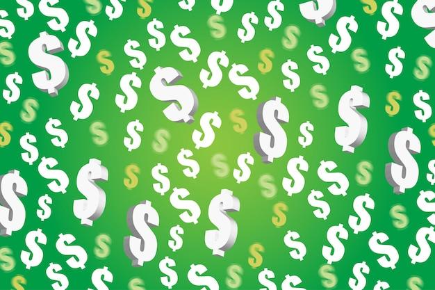 Símbolo de dinheiro ou ícone de dólar em padrão uniforme
