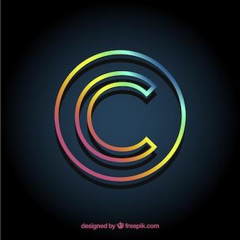 Símbolo de direitos autorais moderno