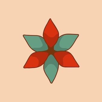 Símbolo de enfeite de flor de natal mídia social pós ilustração vetorial de decoração de natal