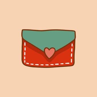 Símbolo de envelope de carta de amor de natal ilustração em vetor mídia social postagem de decoração de natal